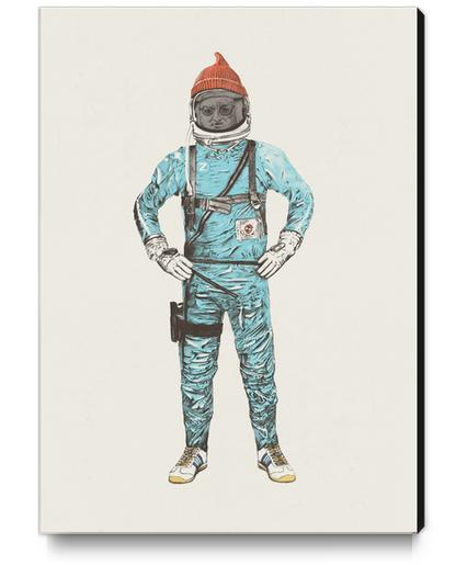Zissou In Space Canvas Print by Florent Bodart - Speakerine