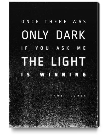 LIGHT vs DARK Canvas Print by DANIEL COULMANN