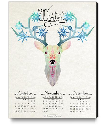 deer winter Canvas Print by Manoou