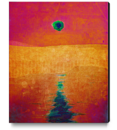 Red Eclipse Canvas Print by Malixx