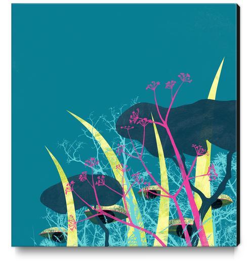 la foresta di circe Canvas Print by junillu