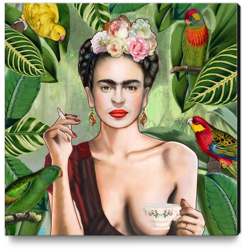 Frida con amigos Canvas Print by Nettsch