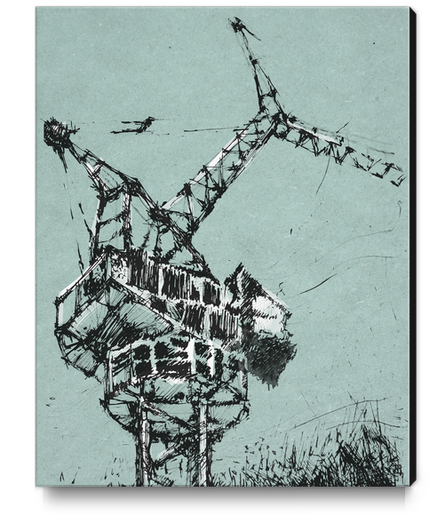 Crane Canvas Print by Georgio Fabrello