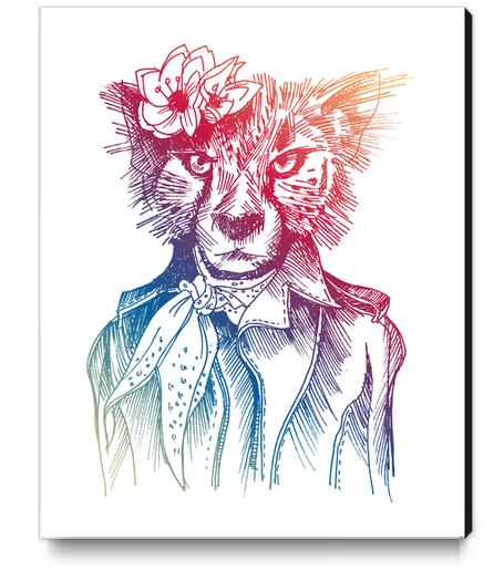 Cute Cheetah Canvas Print by Georgio Fabrello