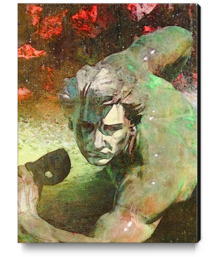 l'homme au masque Canvas Print by Malixx