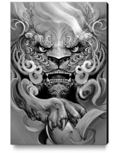 Foo dog Canvas Print by Elvintattoo