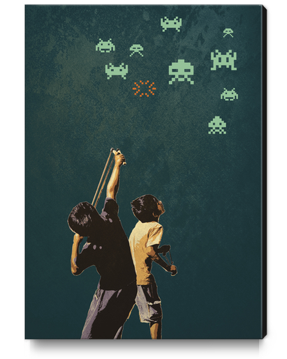 Invaders! Canvas Print by tzigone