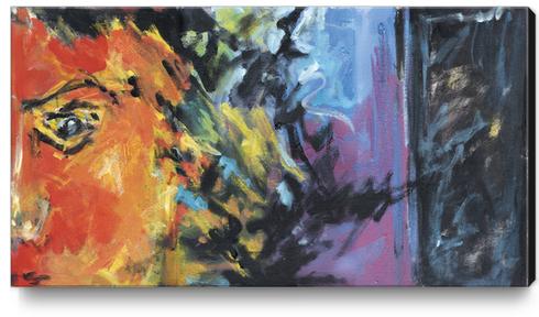 Lion Diptych - Right Canvas Print by Georgio Fabrello