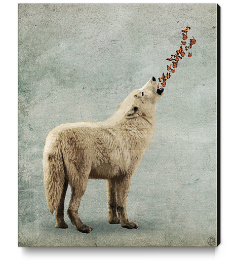 Howl Canvas Print by Seamless