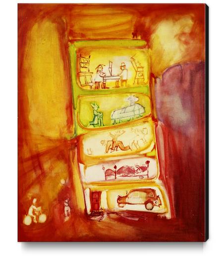 Voisinage Canvas Print by Georgio Fabrello
