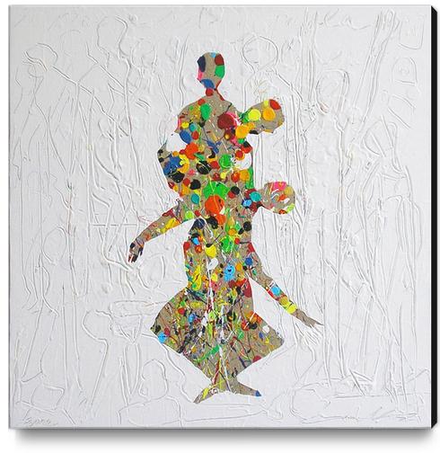 Melting Dance Canvas Print by Pierre-Michael Faure