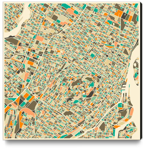 MONTREAL MAP 1 Canvas Print by Jazzberry Blue