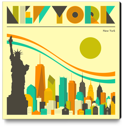 NEW YORK Canvas Print by Jazzberry Blue