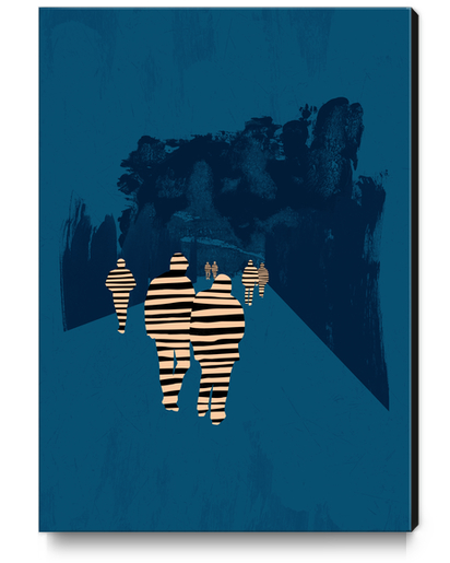 walking for oblivion Canvas Print by junillu