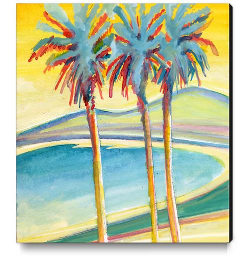 Palm Tree on the French Riviera Canvas Print by Georgio Fabrello