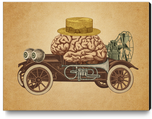 Intelligent Car Canvas Print by Pepetto