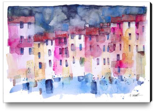 Portofino Canvas Print by andreuccettiart