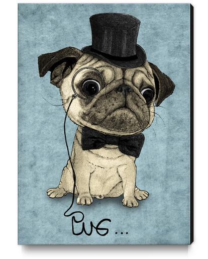Pug; Gentle Pug Canvas Print by Barruf