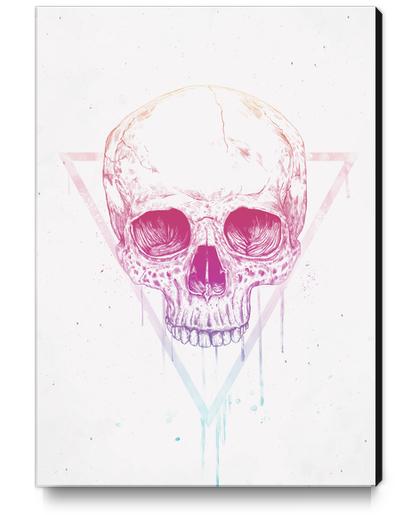 Skull in triangle Canvas Print by Balazs Solti