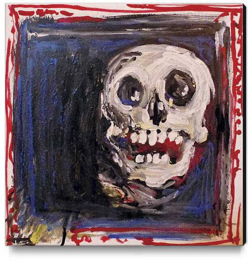 Smiling Skull Canvas Print by Georgio Fabrello