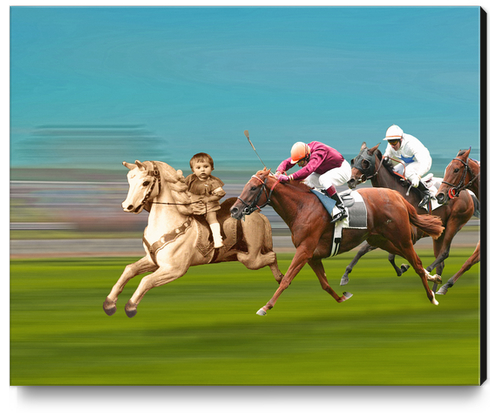 The Race Canvas Print by tzigone