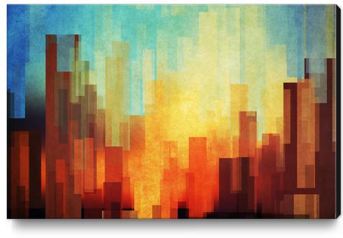 Urban Sunset Canvas Print by DejaReve