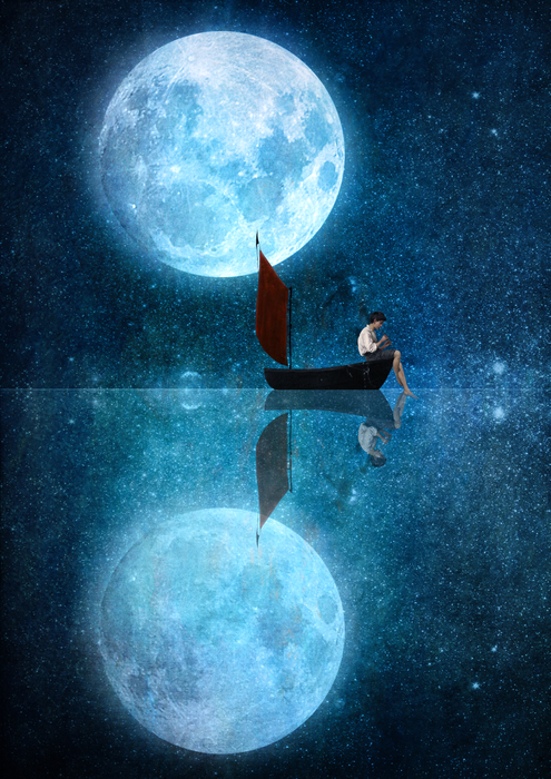 The Moon And Me Artwork by DVerissimo | Artsider
