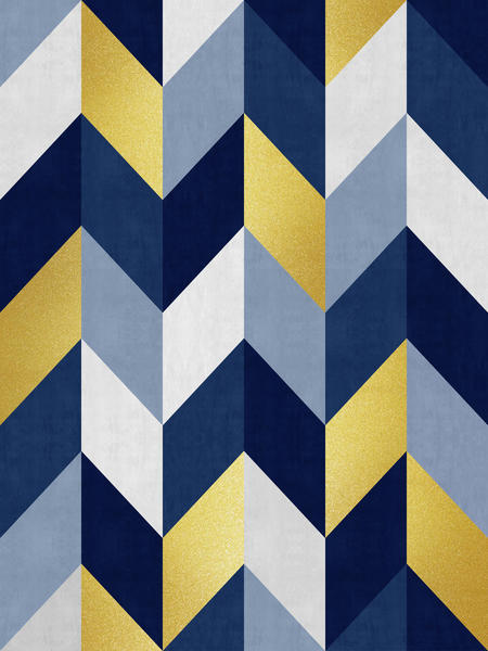 Geometric and golden chevron by Vitor Costa