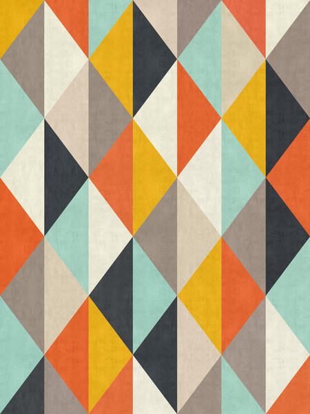 Geometric and colorful chevron by Vitor Costa