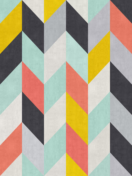 Geometric and colorful chevron I by Vitor Costa