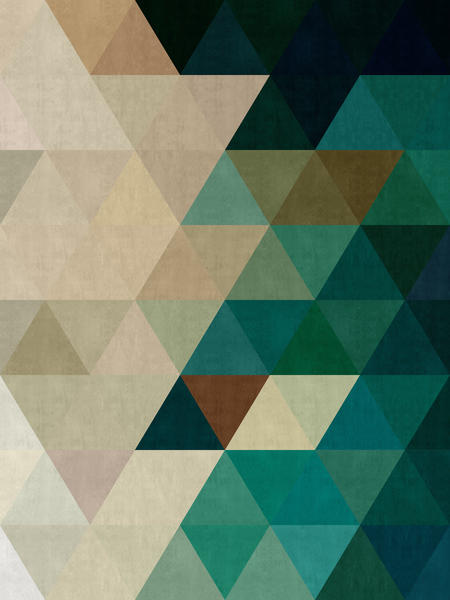 Green triangles pattern by Vitor Costa