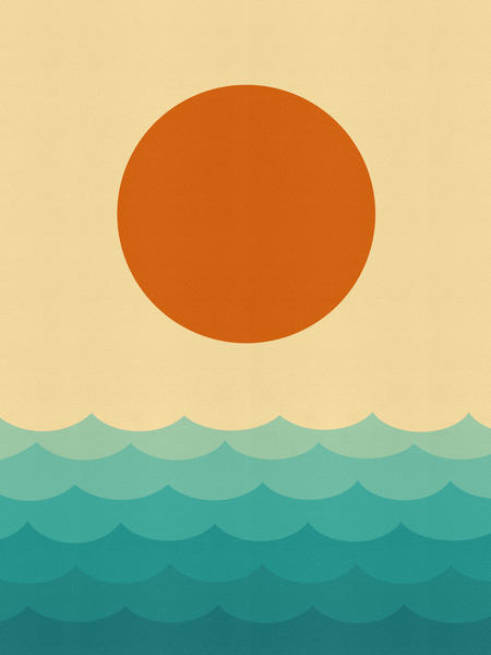 Minimalist sunset by Vitor Costa