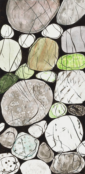 Classical Stones Pattern in High Format by Heidi Capitaine