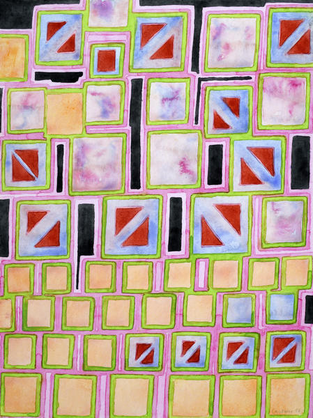 Composition out of Three Kind of Squares by Heidi Capitaine