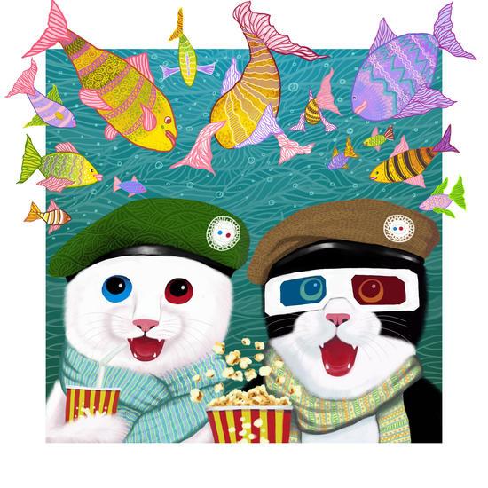 3D cats by Tummeow