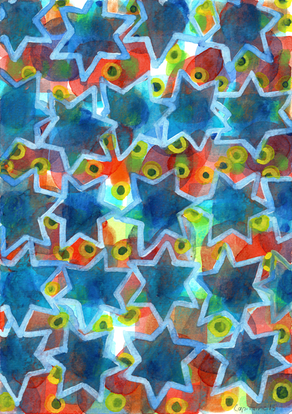 Blue Stars  by Heidi Capitaine