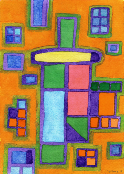 Colorful Windows  by Heidi Capitaine