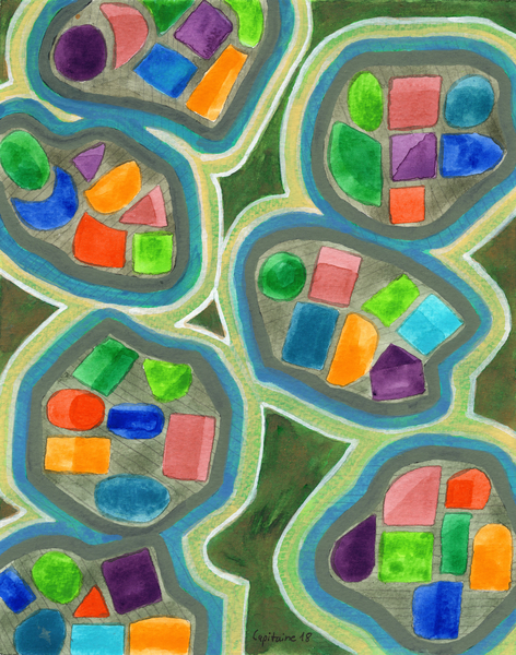 Jewel Nests Pattern  by Heidi Capitaine
