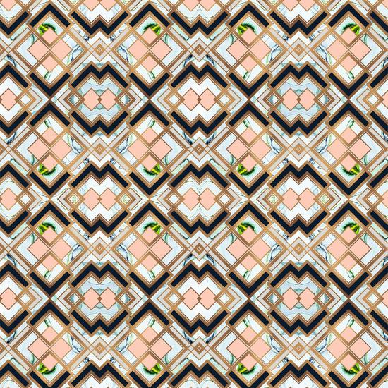 Art deco geometric pattern by mmartabc