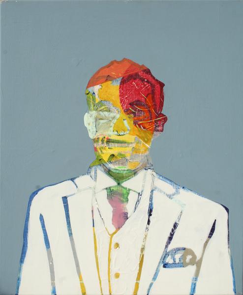 Auto-portrait Blanc by Pierre-Michael Faure