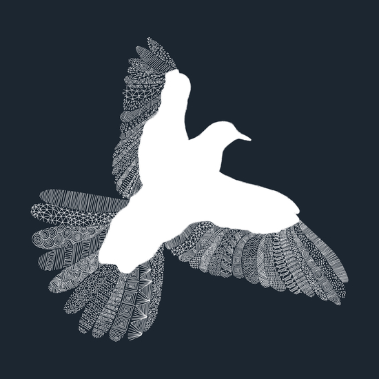 Bird (on blue) by Florent Bodart - Speakerine