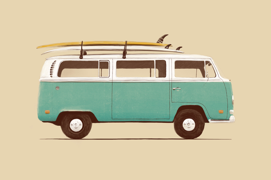 Blue Van by Florent Bodart - Speakerine