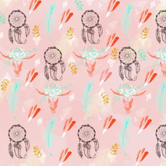 Bohemian pink pattern by mmartabc