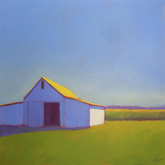 Corn Fields and Moody Blues 1 by Carol C Young. The Creative Barn