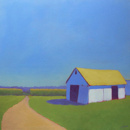 Corn Fields and Moody Blues 2 by Carol C Young. The Creative Barn