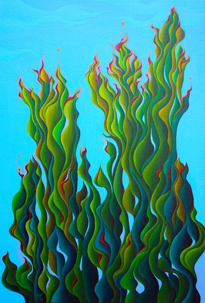 Cypressing a Wave by Amy Ferrari Art