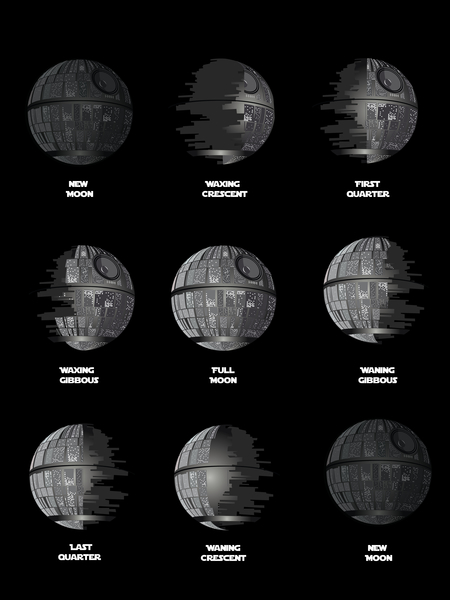 The Death Star Moon phase by TenTimesKarma