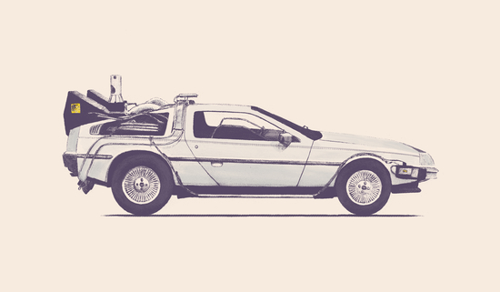 Famous Car - Delorean by Florent Bodart - Speakerine
