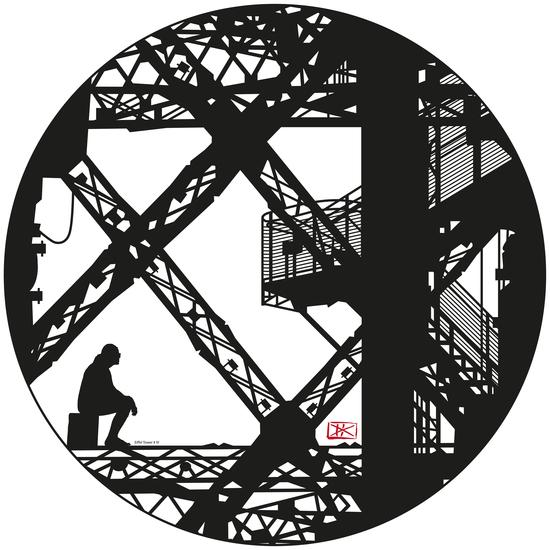 Eiffel tower #4 by Denis Chobelet