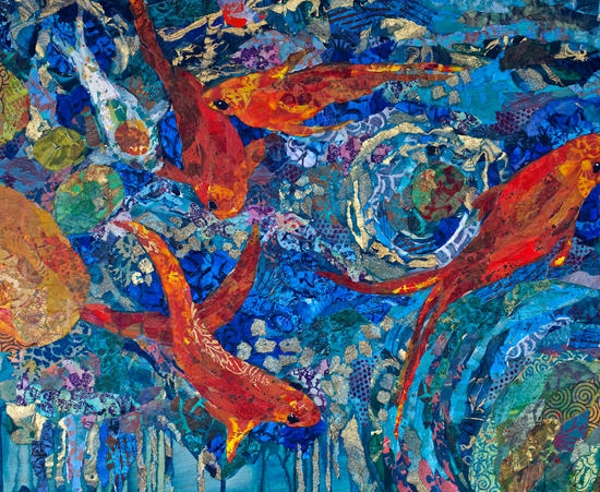 Koi Pond by Elizabeth St. Hilaire